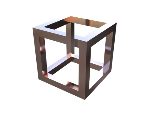 optical illusion cube geometric