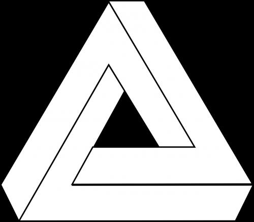 optical illusion triangle puzzle