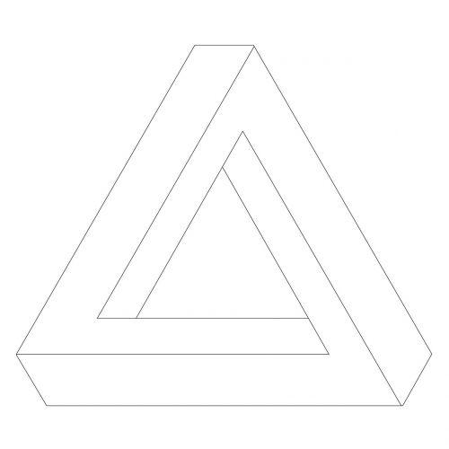 optical illusion triangle shape