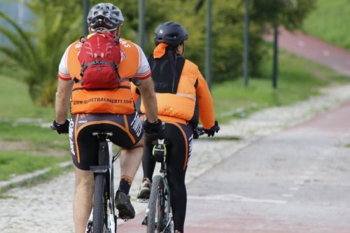 orange bike path