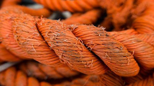 orange rope knot