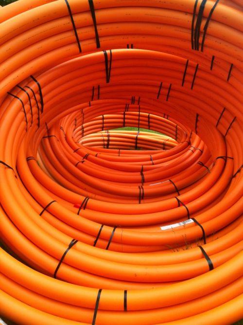 orange pipes pipeline
