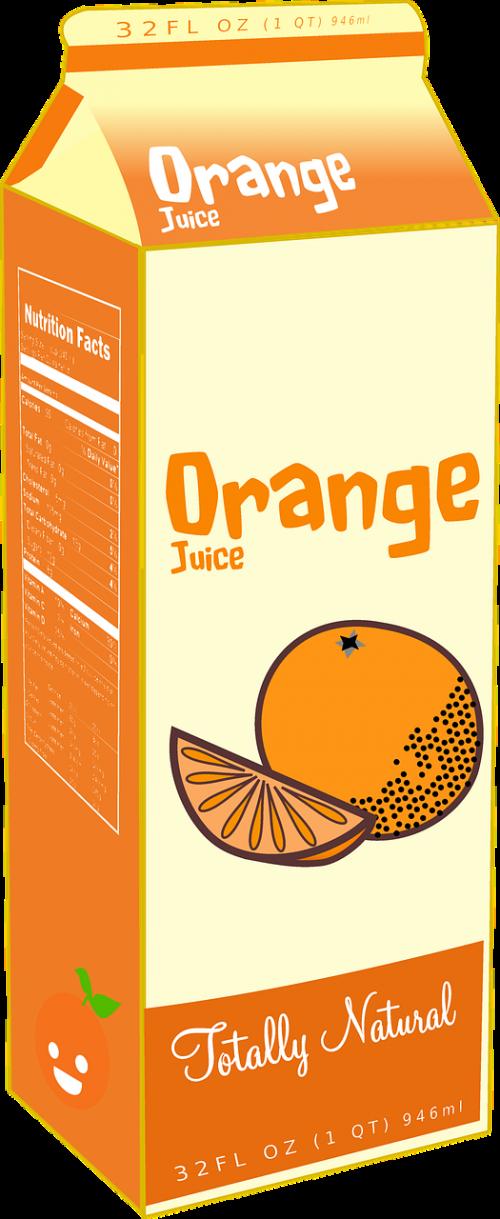 orange fruit juice diet container