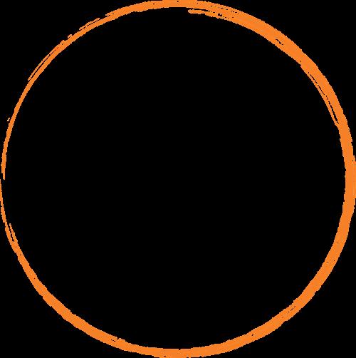 orange round circle