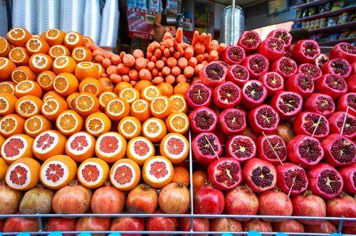 oranžinė,granatas,vaisiai,raudona,rūgštus,turgus,istanbulas
