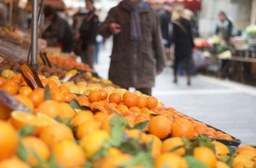 market orange citrus