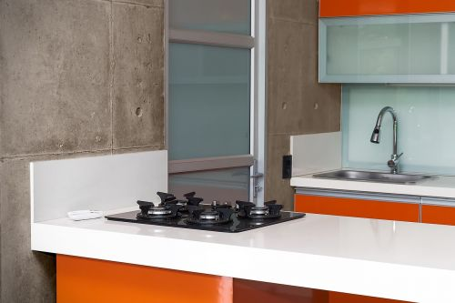 kitchen integral orange