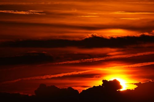 orange romantic skies