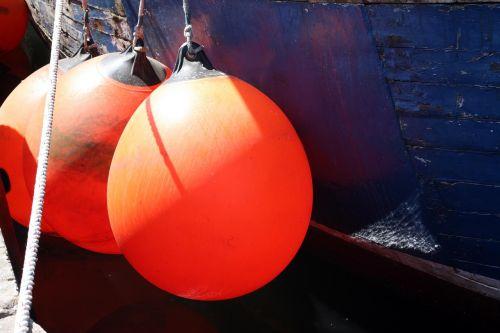 orange boje ship