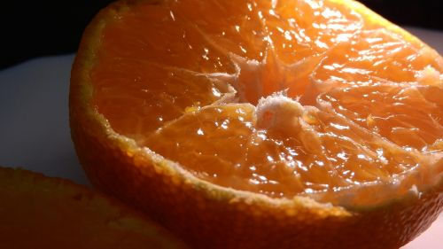 orange cut fruit