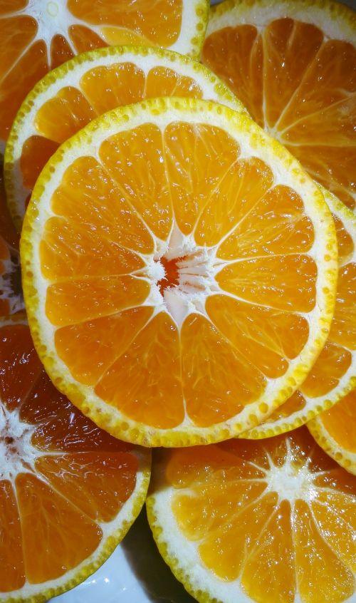 orange yellow slice