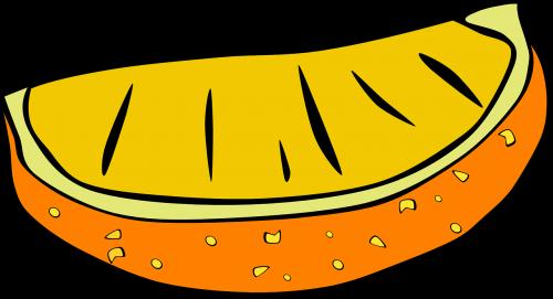 orange wedge fruit