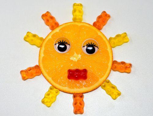 orange disc sun