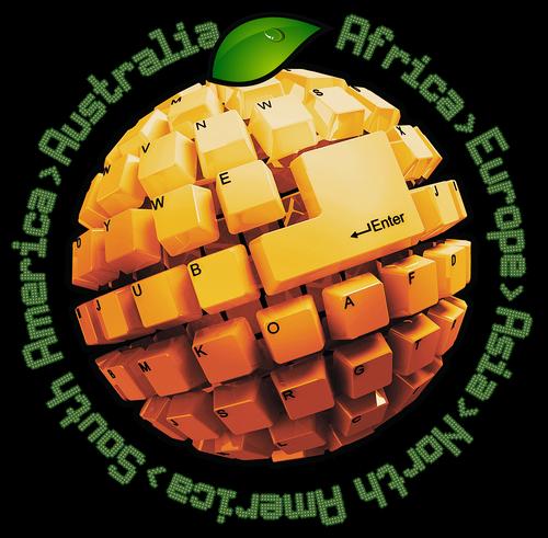 orange  keyboard  ball