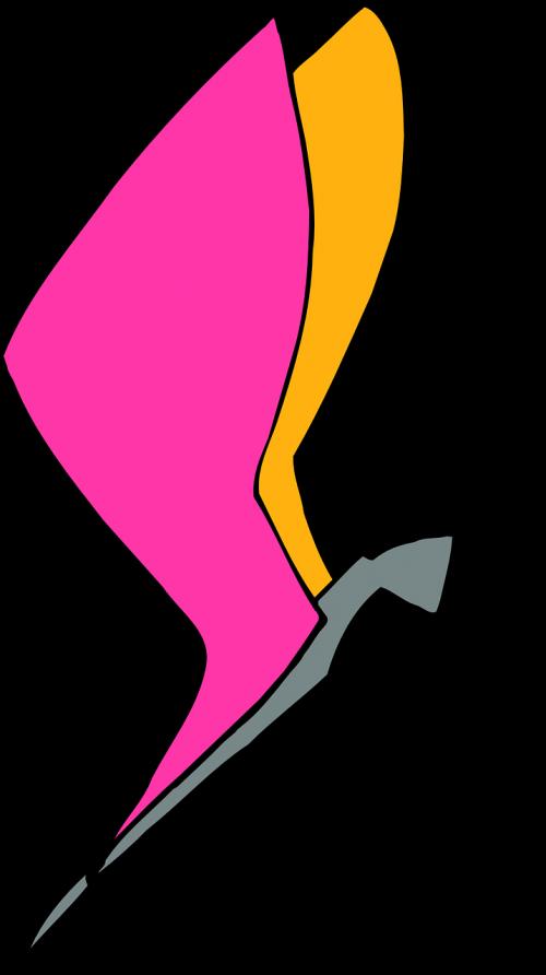 oranžinė,rožinis,drugelis,skraidantis,sparnai,vabzdys,skristi,nemokama vektorinė grafika