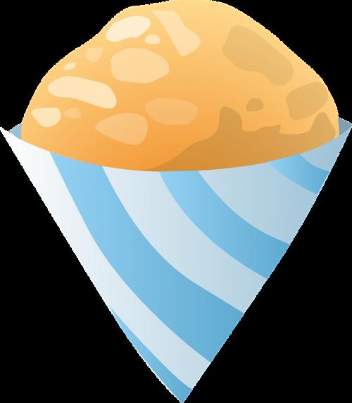 orange ice cream cones