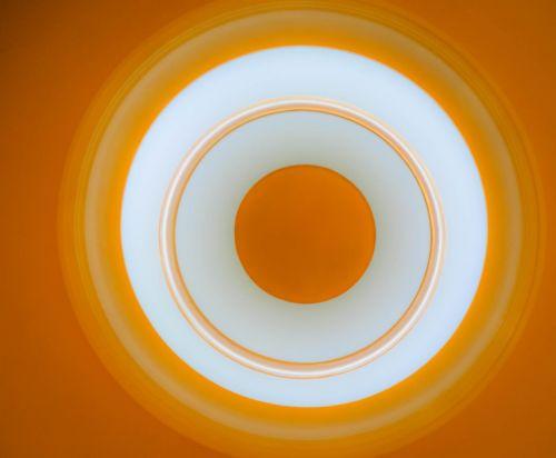 orange circle abstract