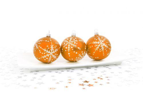 Orange Bauble Decoration