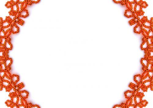 fonas, balta, oranžinė, karoliukai, amatų, kopijuoti, erdvė, oranžinės karoliukai