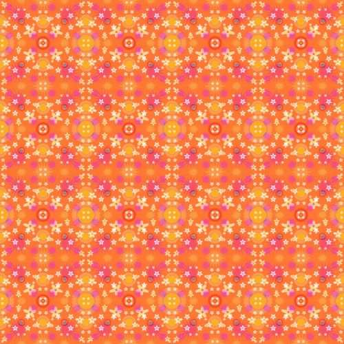 Orange Bright Textile Pattern