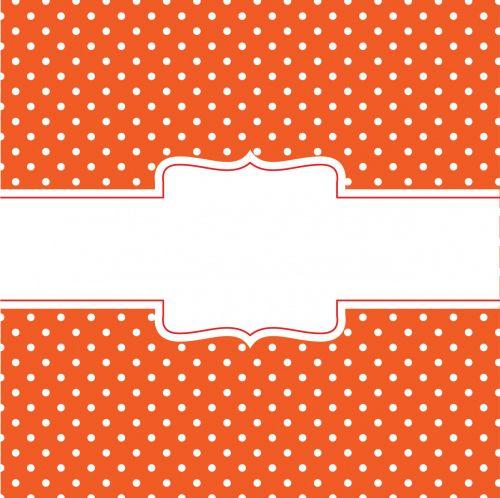 Orange Card With Banner
