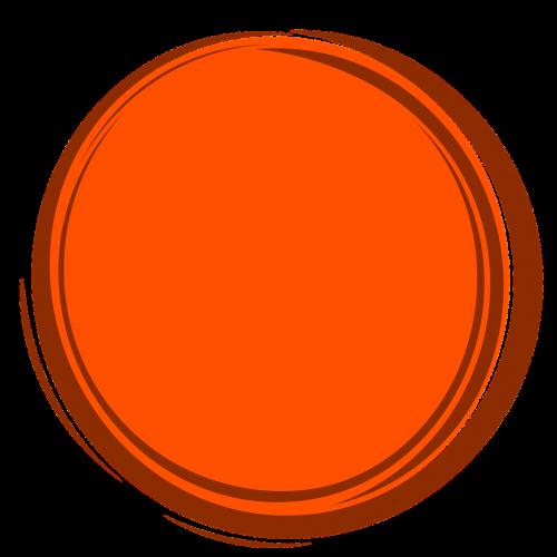 orange circle frame circle