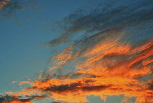 orange clouds clouds orange