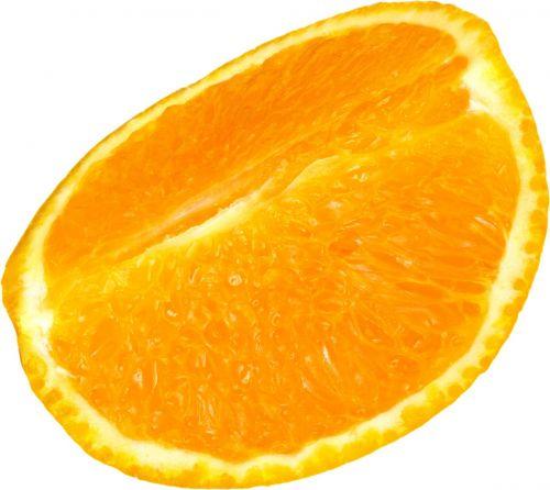 orange fruit quarter slice sliced