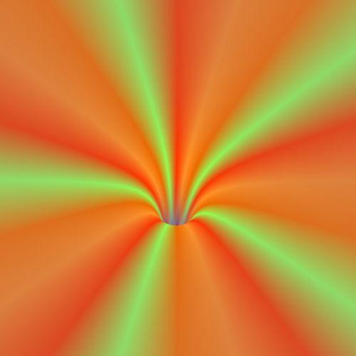 Orange Green Vortex