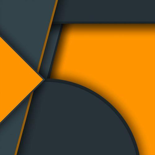 Orange Grey Shapes