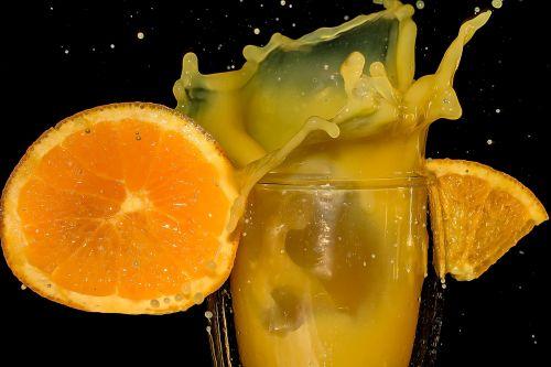 orange juice orange slice pieces of orange