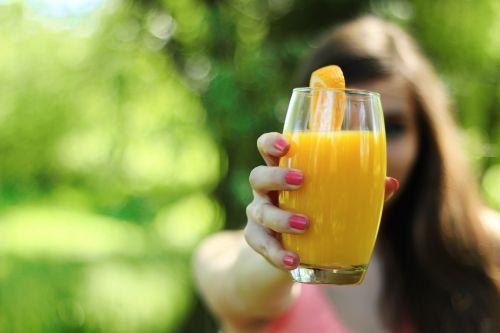 orange juice healthy glass
