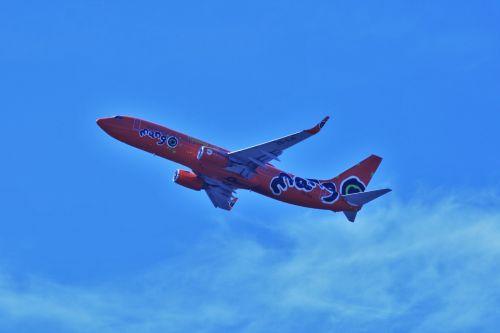 Orange Mango Passenger Jet B-737