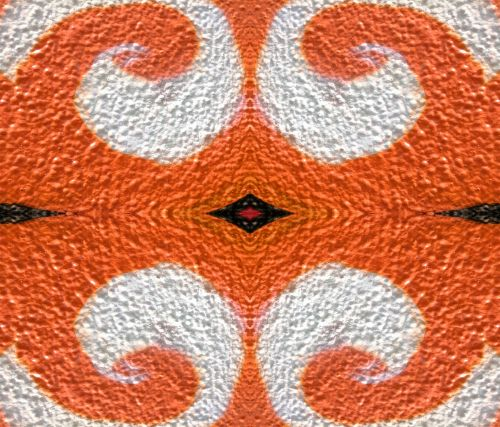 Orange Ornate Background