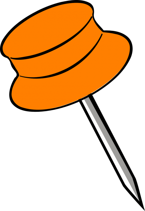 orange pin pin pushpin