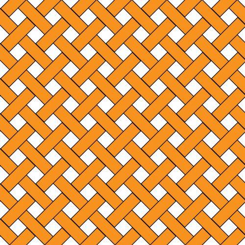Orange Weave Wicker Pattern