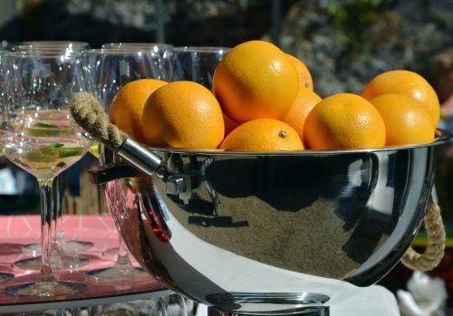 oranges orange juice glasses