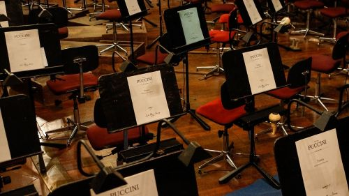 orchestra music stand music