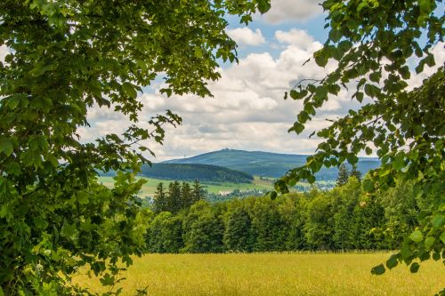 ore mountains summer fichtelberg
