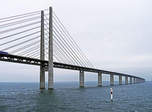 oresund bridge east side cable-stayed bridge