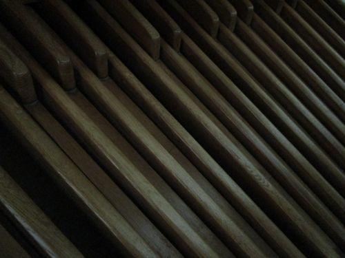 prieš, barai, įgaubtas, tamsi, pedalai, vamzdis & nbsp, organas, mediena, organų pedalai