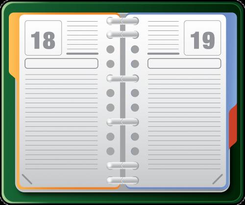 organizer datebook diary