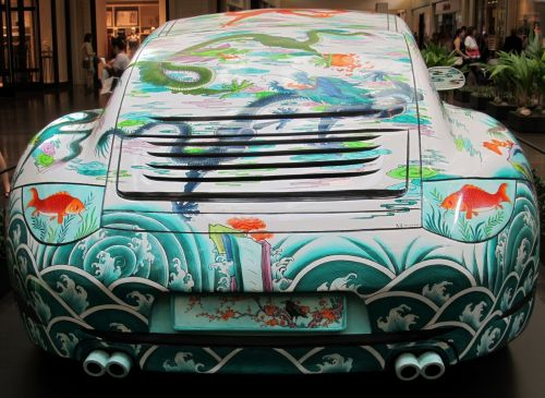 Oriental Motif Porsche