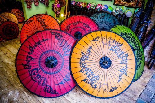 oriental umbrellas multi color oriental