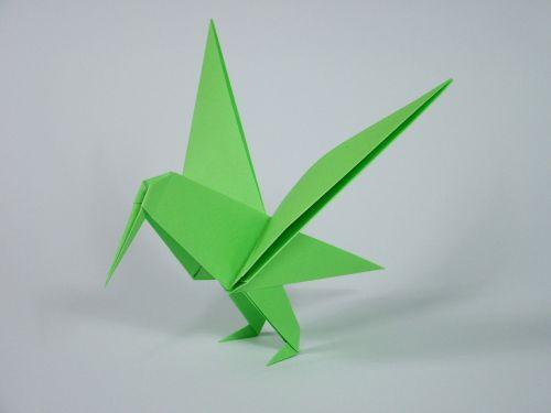 origami folding bird