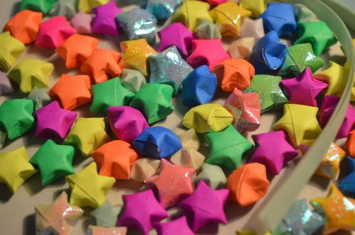 origami stars paperstrips