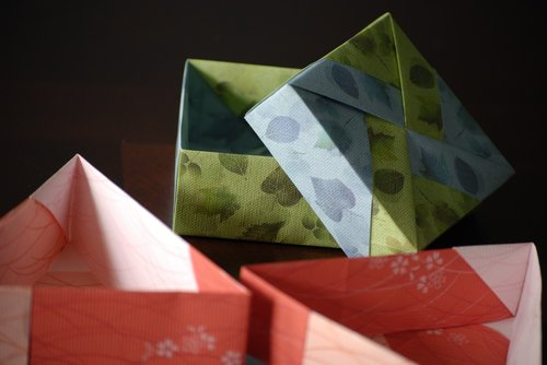 origami  papercrafting  origami boxes