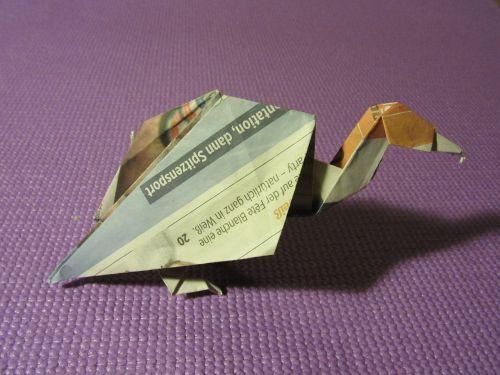 origami vulture paper