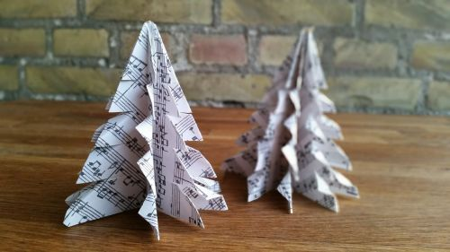origami christmas ornaments paper