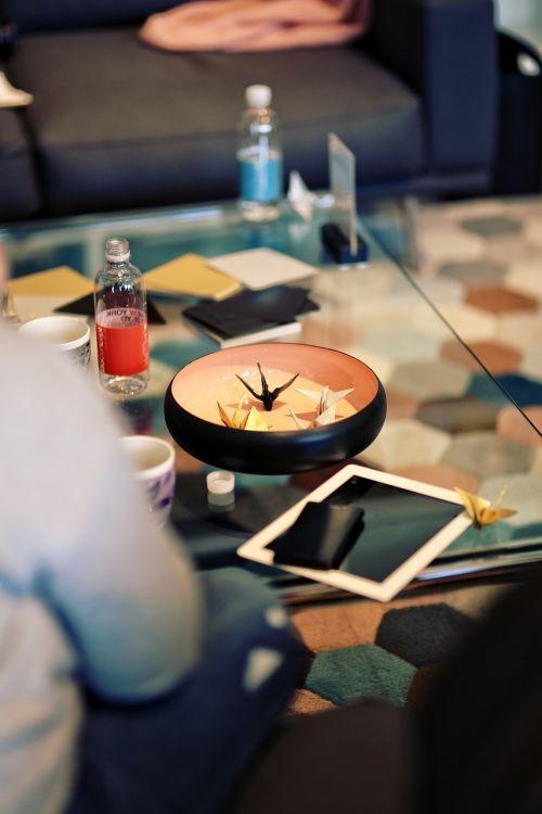 origami vessel table